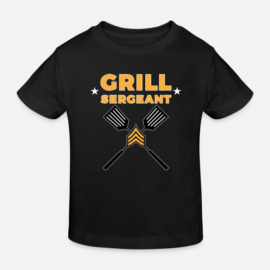 Steak Baby Clothes - Grill Sergeant - BBQ BBQ Grilling Meat - Kids' Organic T-Shirt black