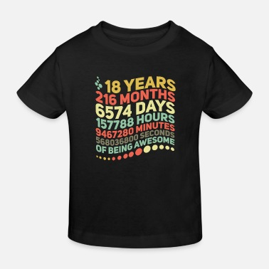 Mathematik 18 Years 216 Month 6574 Days of being awesome - Kinder Bio T-Shirt