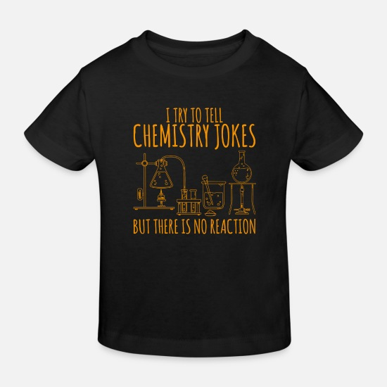 Teacher Baby Clothes - Chemistry flask laboratory saying gift - Kids' Organic T-Shirt black