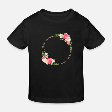 Personalise Wreath personalisable - Kids' Organic T-Shirt