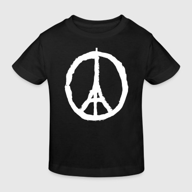 Fred For Paris PRAY FOR PARIS - PEACE FOR PARIS - Organic børne shirt
