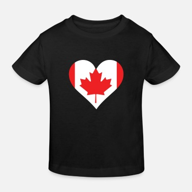 American Indian A heart for Canada - Kids' Organic T-Shirt