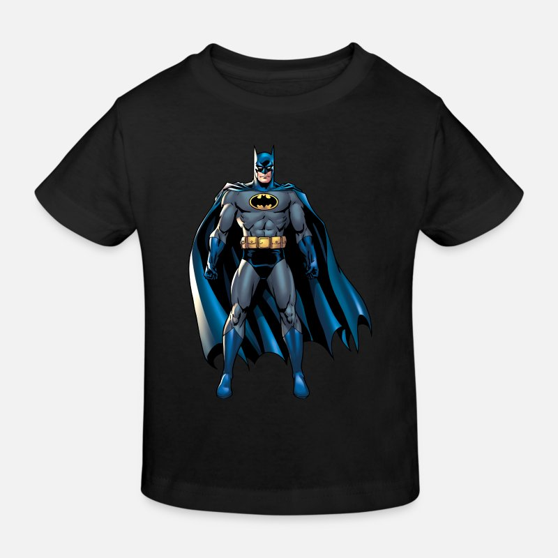 Superhelden T-Shirts - Batman Pose 1 Kinder T-Shirt - Kinder Bio T-Shirt Schwarz