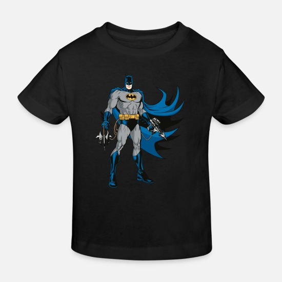 Batman Vêtements Bébé - Batman Pose en tenue Tee-shirt Enfant - T-shirt bio Enfant noir