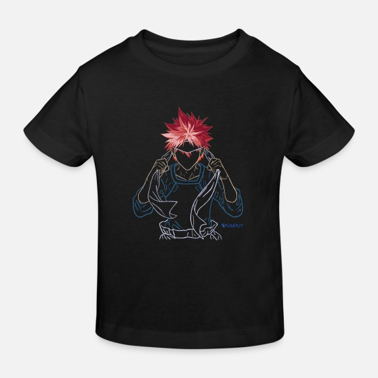 Cosplay Baby Clothes - ANIME CHARACTER RED HAIR - Kids' Organic T-Shirt black