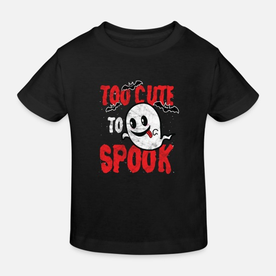Cute Dog Baby Clothes - Ghost Grudge - Too cute to spook grudge - Kids' Organic T-Shirt black