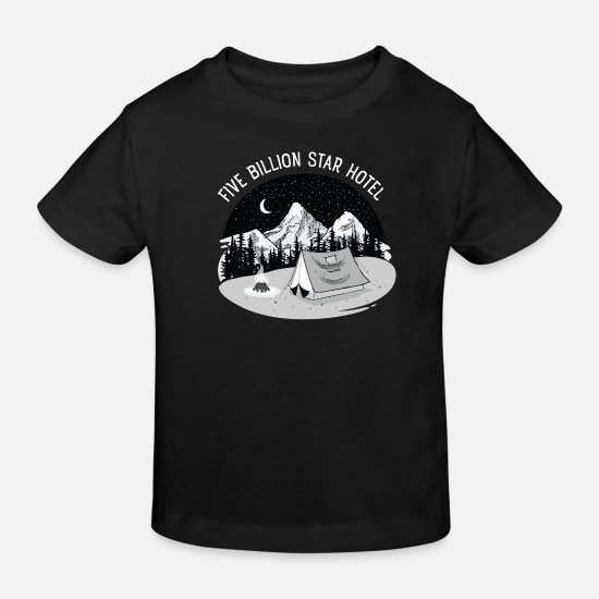 Adventure Baby Clothes - 5 Billion Star Hotel - Kids' Organic T-Shirt black