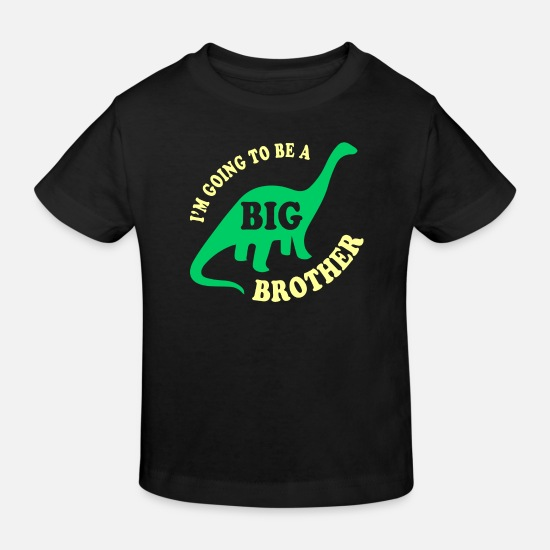 To Baby Clothes - Big Brother To Be - Kids' Organic T-Shirt black