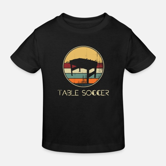 Gift Idea Baby Clothes - kicker foosball gift - Kids' Organic T-Shirt black