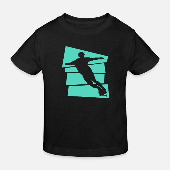 Gift Idea Baby Clothes - Longboard - Kids' Organic T-Shirt black