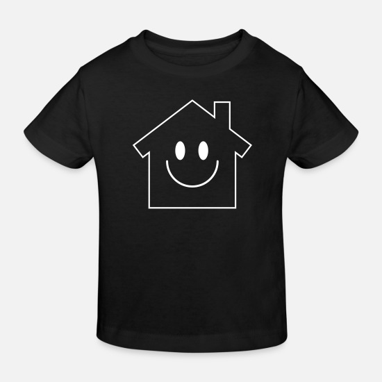 Maison Vêtements Bébé - Smiley House - T-shirt bio Enfant noir