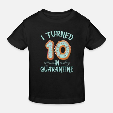 Image Donut Birthday product Girls - I Turned 10 in - Kids' Organic T-Shirt