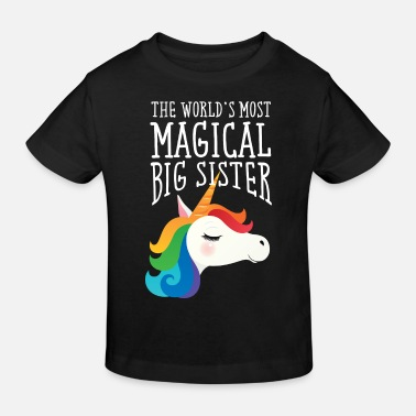 Sister World's Most Magical Big Sister - Unicorn - Ekologisk T-shirt barn