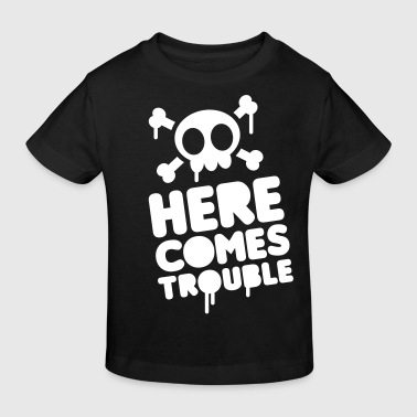 Here comes trouble  - Kids' Organic T-Shirt