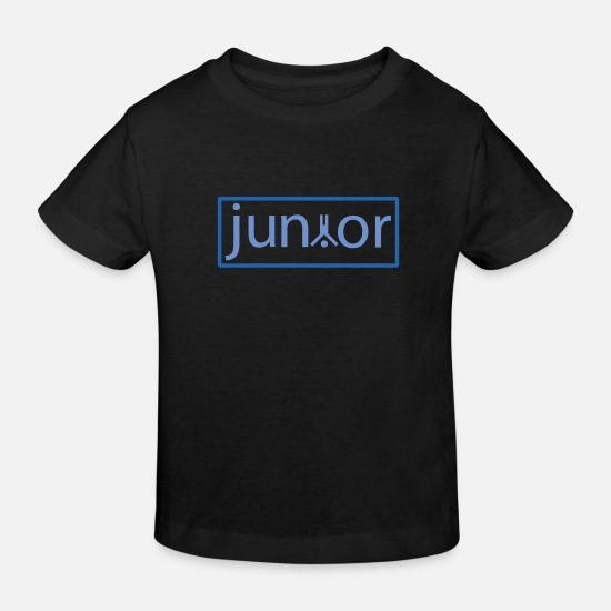 Junior Babykleidung - junior - Kinder Bio T-Shirt Schwarz