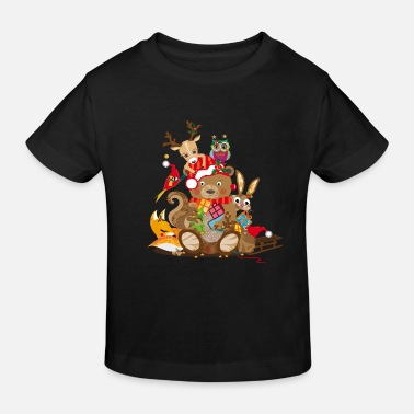 Christmas Animals celebrate Christmas - Kids' Organic T-Shirt