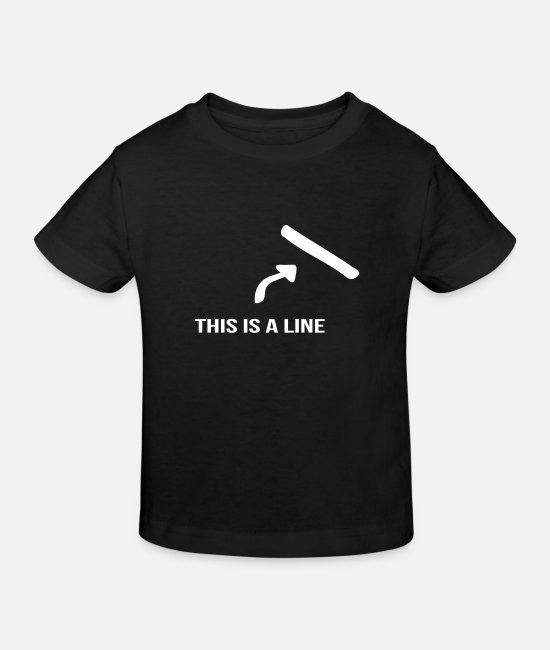 Arrow T-Shirts - That's a line - Kids' Organic T-Shirt black