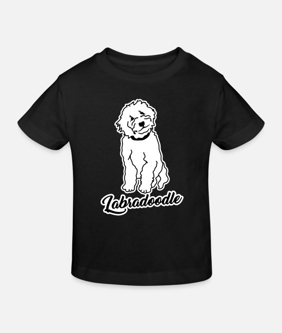 Puppy Baby Clothes - Labradoodle - Kids' Organic T-Shirt black