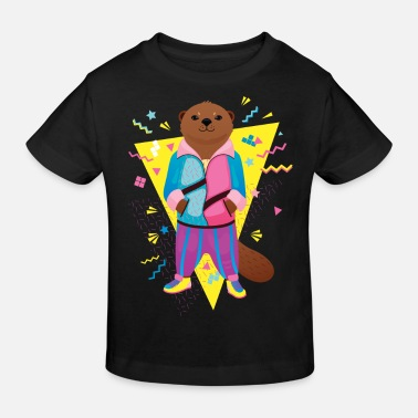 Spreadshirtlikes Cool 80's Otter - T-shirt bio Enfant