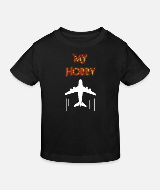 Training T-Shirts - hobby airplane - Kids' Organic T-Shirt black