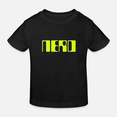 Changeable Lettering nerd in a retro look. Color changeable. - Kids' Organic T-Shirt