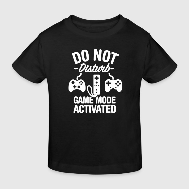 Do not disturb game mode activated - Camiseta ecológica niño