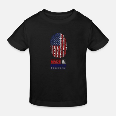 USA Made in America fingerprint - Kids' Organic T-Shirt