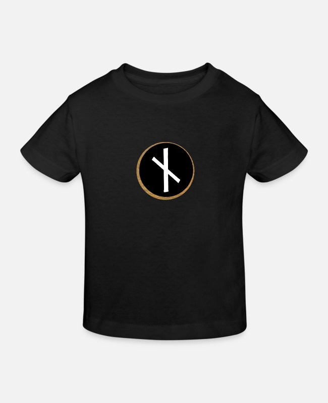 Viking T-Shirts - Naudhiz Futhark Rune - Need - Kids' Organic T-Shirt black