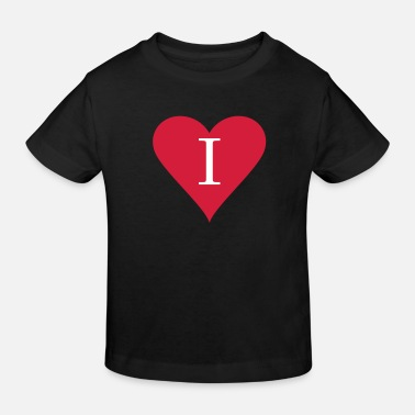 Heart alphabet I - Kinderen bio T-shirt