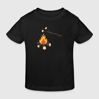 Campfire with marshmallows - Kids' Organic T-shirt
