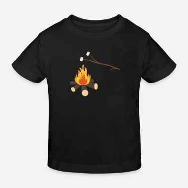 Marshmallow Campfire with marshmallows - Kids' Organic T-Shirt
