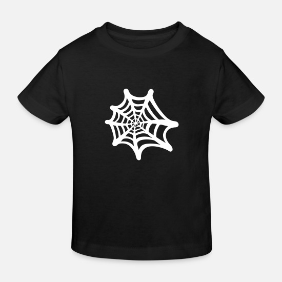 Trick Or Treat Babykleidung - Spinnennetz - Kinder Bio T-Shirt Schwarz