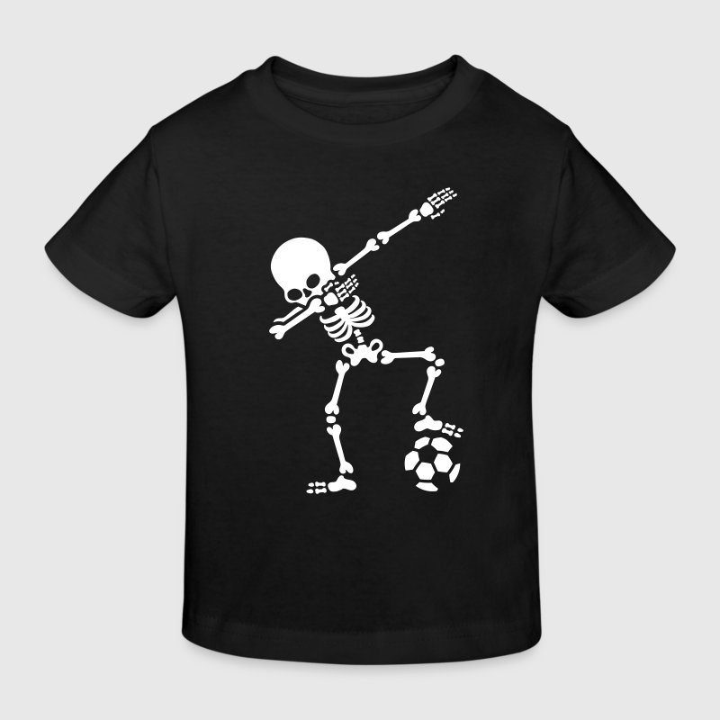 Dab dabbing skeleton football (soccer) - Kids' Organic T-shirt