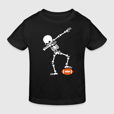 Dab dabbing skeleton rugby - American football - Kinder Bio-T-Shirt
