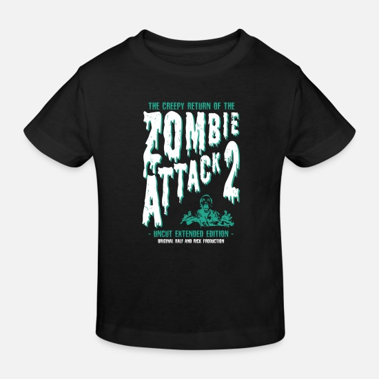 Zombie Baby Clothes - ZOMBIE ATTACK - Kids' Organic T-Shirt black