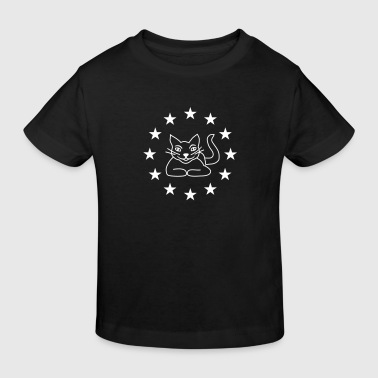 Cats & Stars - Kids' Organic T-shirt