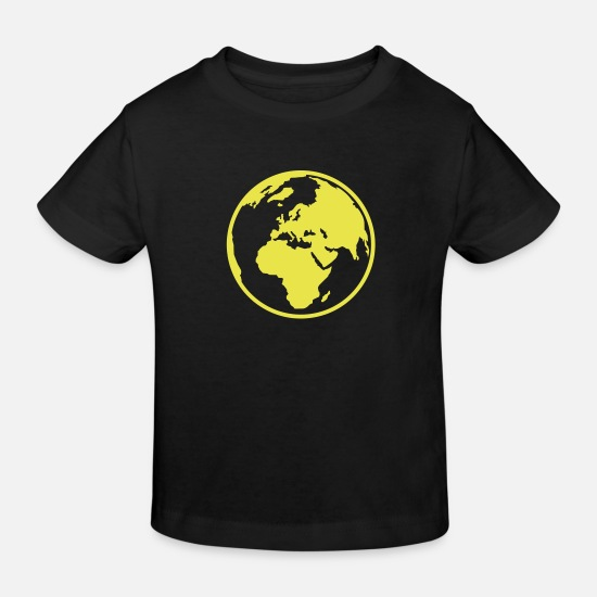 Earth Baby Clothes - World - Kids' Organic T-Shirt black