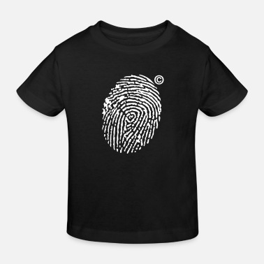 Boef Fingerprint Copyright - Kinderen Bio-T-shirt