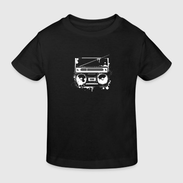 Ghettoblaster Graffiti - Kinder Bio-T-Shirt