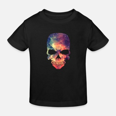 Universe - Space - Galaxy Skull - T-shirt bio Enfant