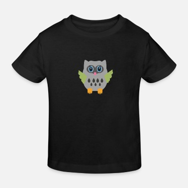 Grey Grey Owl - Kids' Organic T-Shirt