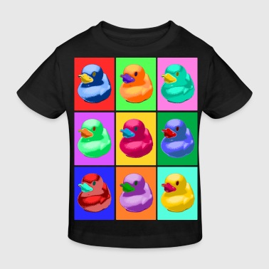 Pop Art Ente, Pop Art Duck - Camiseta ecológica niño