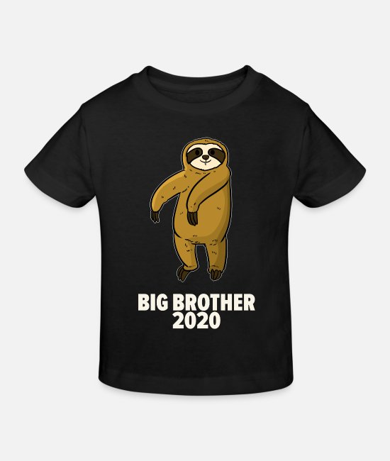 Birthday Baby Clothes - Big brother sloth 2020 - Kids' Organic T-Shirt black