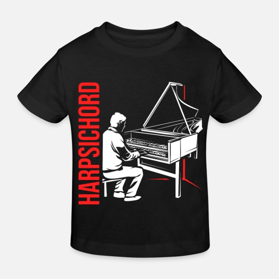 Idea Baby Clothes - Harpsichord harpsichord - Kids' Organic T-Shirt black
