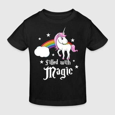 Unicorn - Filled with Magic - Organic børne shirt