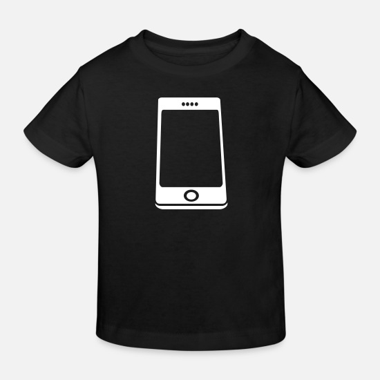 Miscellaneous Baby Clothes - Smartphone Handy - Kids' Organic T-Shirt black