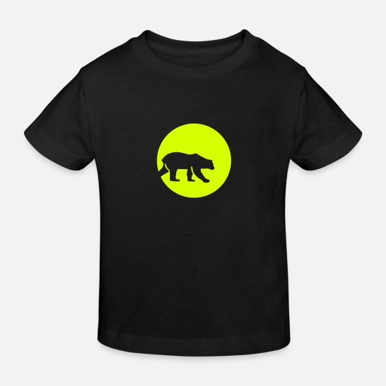 Night Baby Clothes - Polar bear - Kids' Organic T-Shirt black