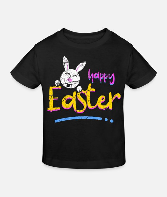 Easter Baby Clothes - Easter Easter Bunny Easter Egg Bunny Easter Eggs - Kids' Organic T-Shirt black