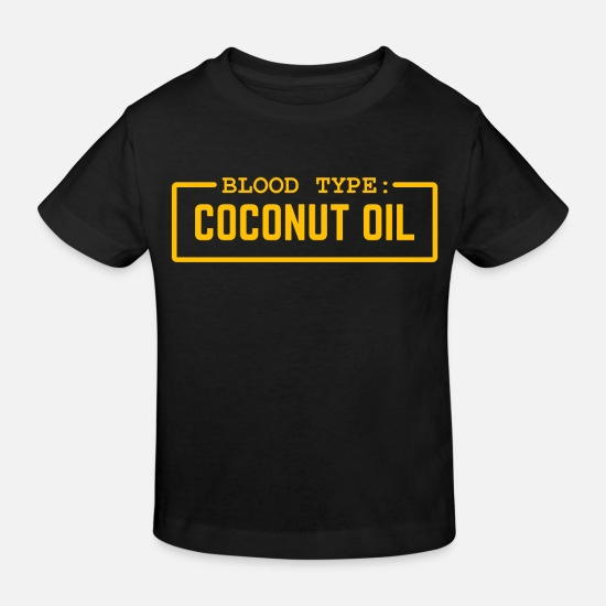 Food Baby Clothes - Blood group coconut oil yellow gift - Kids' Organic T-Shirt black