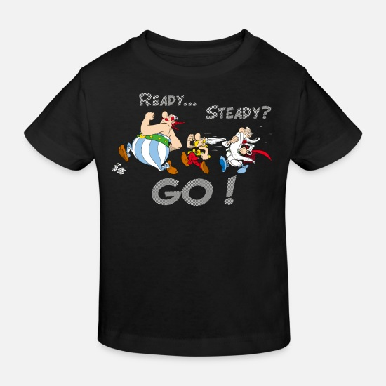 Running Baby Clothes - Asterix & Obelix - What Doesn't Kill You - Kids' Organic T-Shirt black